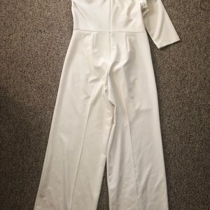 New York & Company Other - New York & Company White One Shoulder Jumpsuit